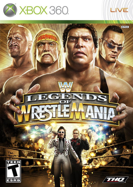 WWE LEGENDS OF WRESTLEMANIA  - XBOX 360