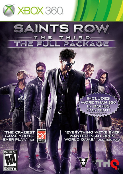 SAINTS ROW THE THIRD: THE FULL PACKAGE  - XBOX 360