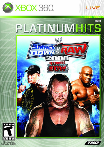 WWE SMACKDOWN VS. RAW 2008   - XBOX 360
