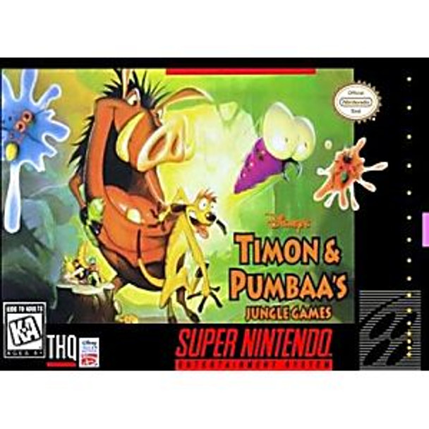 TIMON AND PUMBAA JUNGLE GAMES - SNES