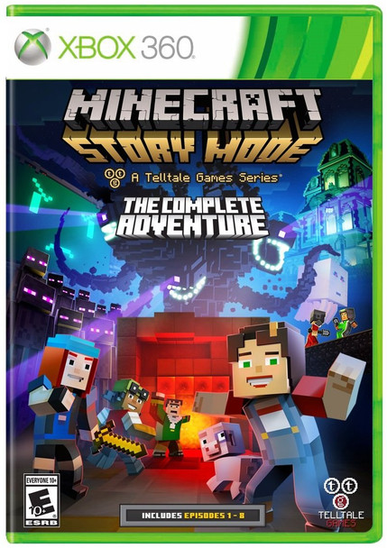 MINECRAFT STORY MODE COMPLETE ADVENTURE   - XBOX 360