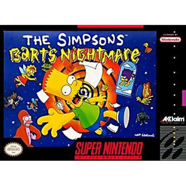 SIMPSONS BART'S NIGHTMARE  - SNES
