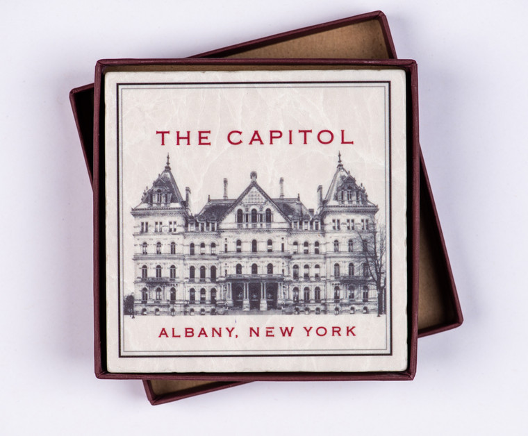 Coaster, Back of Capitol, Screencraft Marble