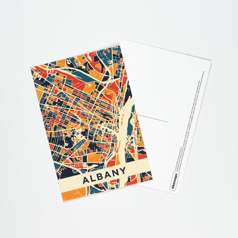 Postcard, Albany Map