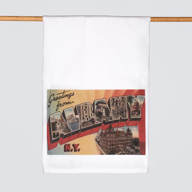 Kitchen Towel, Vintage Albany Prints