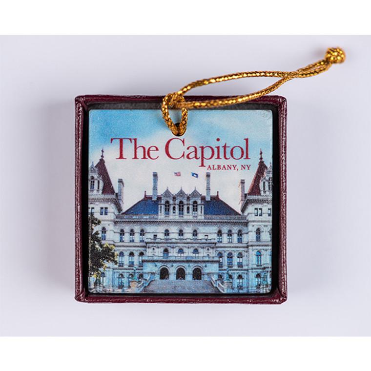 Marble Capitol Ornament