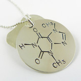 Chocolate / Theobromine Molecule Necklace
