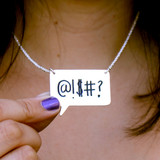 Write On/Wipe Off Speech Bubble Necklace