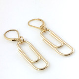 Paper Clip Earrings | Gold-Filled