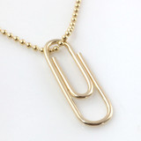 Paper Clip Necklace | Gold-Filled