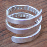 Secret Message Quote Ring