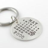 Mark Your Calendar Key Chain - Round