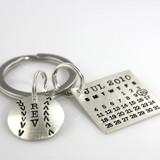 Mark Your Calendar Key Chain with Baseball Charm