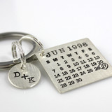 Mark Your Calendar Key Chain with You & Me Charm