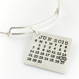 Mark Your Calendar Bangle Bracelet