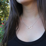 Infinity Symbol Fine Silver Necklace