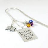 Oh, the Places You'll Go Simply Charming Bookmark with Book Charm