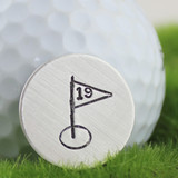 19th Hole Sterling Golf Ball Marker