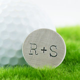 You + Me Handstamped Sterling Golf Marker