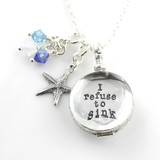 Simply Charming Glass Locket Personalized Necklace with Starfish