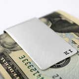 Personalized Small Initials Sterling Silver Money Clip