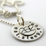 Eat. Sleep. Run. Necklace 26.2