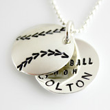 Baseball Mom Personalized Faux Locket Necklace