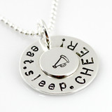 Eat. Sleep. CHEER! sterling silver necklace