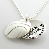 Basketball Personalized Faux Locket Necklace