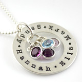 Love Circle Personalized Washer Necklace