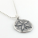 Sand Dollar Simple Charm Necklace