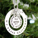 My First Christmas Personalized Sterling Silver Ornament