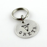 Personalized Greyhound Pet Tag