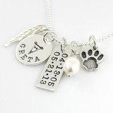 Simply Charming Greyhound Tribute Memorial Necklace