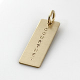 Add a Simple Name Tag - Long Gold Filled