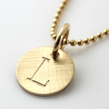 Simple Initial Necklace - Gold Filled