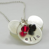 Mouse Ears personalized sterling silver necklace
