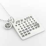 Mark Your Calendar Necklace with AA Charm