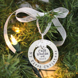 My First Christmas Personalized Sterling Silver Ornament Keepsake - best for shorter names