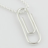 Paper Clip Necklace Sterling Silver (Ready to Ship)