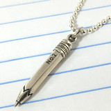 Pencil Simple Charm Necklace