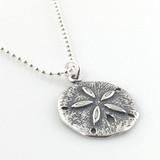 Sand Dollar Simple Charm Necklace