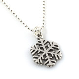 Snowflake Simple Charm Necklace