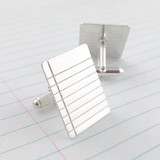 Binder Paper / Note Paper Sterling Silver Cuff Links