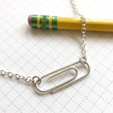Paper Clip Necklace - horizontal