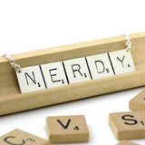Scrabble Tile Nerdy Necklace