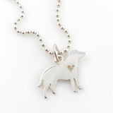 Retriever Simple Charm Necklace - Dog Necklace