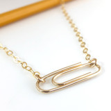 Paperclip Necklace / Gold-Filled Horizontal