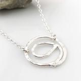 Gratitude Symbol Fine Silver Necklace (smaller size)