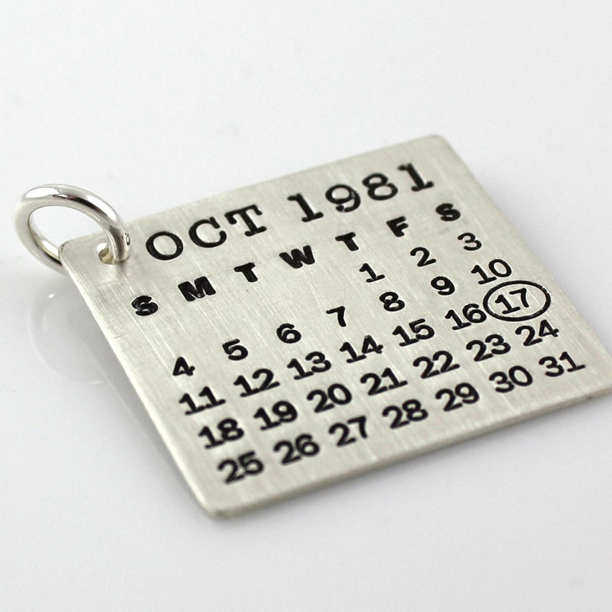 Mark Your Calendar Charm